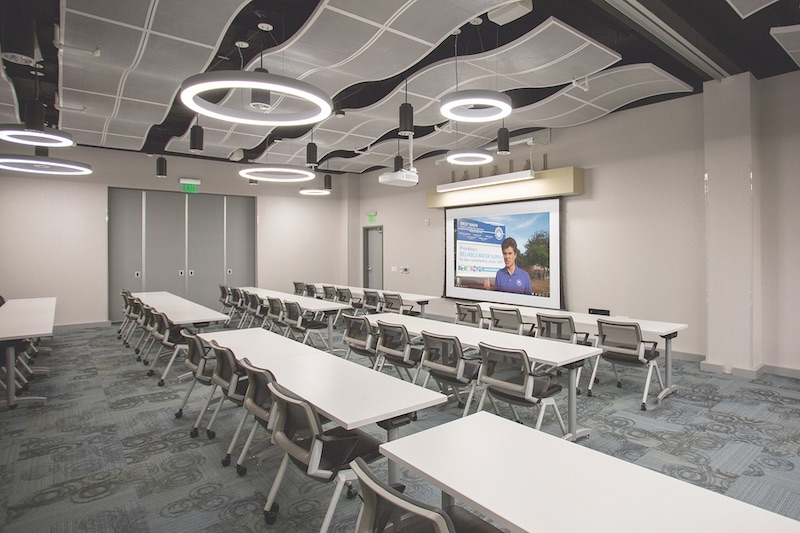 Recent rennovations to the Edward C. Little Water Recycling Facility Water Education Center included updates to educational information and interactive exhibits. Since it was built in 1995, the Water Education Center has been visited by more than 100,000 school children and college students.