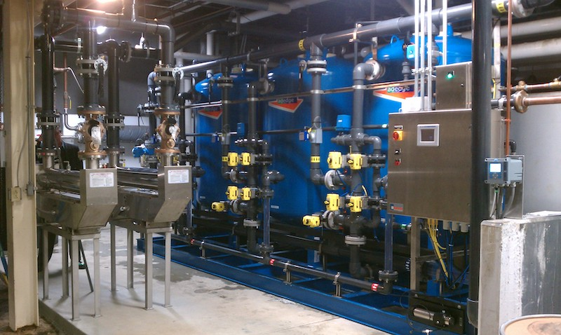 Adedge Food Processing Plan 350 gpm Ion Exchange System Nitrate Removal