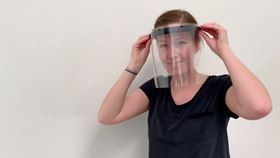 Grundfos produces face shields for health services