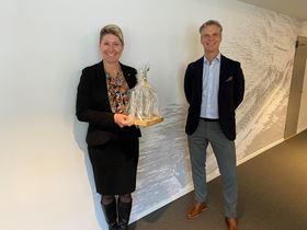 Siri-Anne Mjaatvedt, CEO of Utkilen; and Martijn Bergink, CEO of Framo.