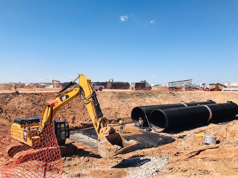 The longer lengths of the DuroMaxx® SRPE tank system allowed for a quick and efficient installation.