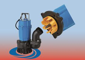Tsurumis new HS3.75SL submersible pump for dewatering tasks has a small, energy efficient motor with an output of 750 w.