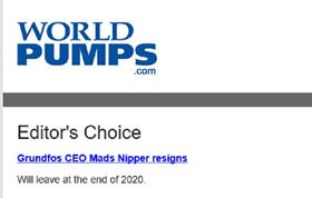 Today's World Pumps Newsletter