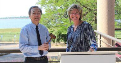 AWWA President Melissa Elliott Passes Gavel to Dr. Chi Ho Sham