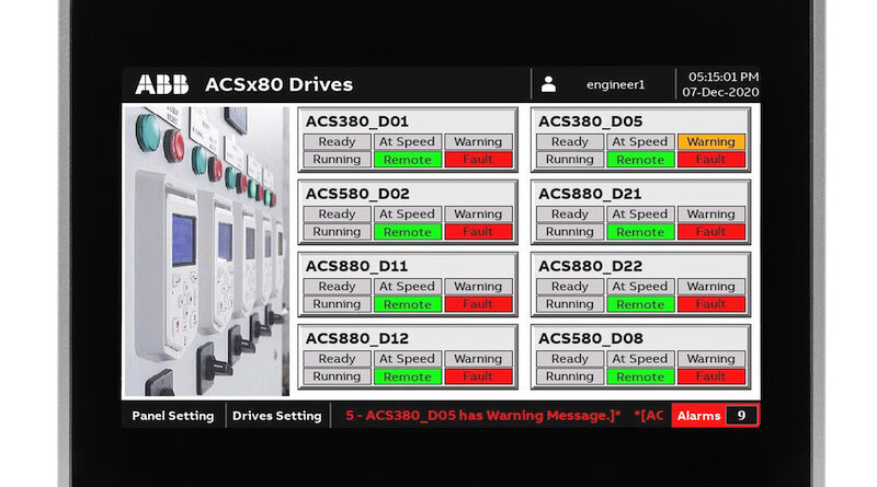 New ABB HMI and Drive Faceplates Provide Clear and Comprehensive Views into Automation Systems